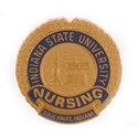 Picture of Gold Plate Indiana State University Pin Back Nursing Pin