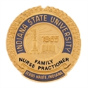 Picture of Gold Plate Indiana State University FNP Pin Back Nursing Pin