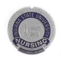 Picture of Sterling Silver Indiana State University Lapel Tac Nursing Pin